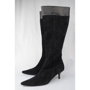 Banana Republic Suede Pointed Toe Heeled Boots